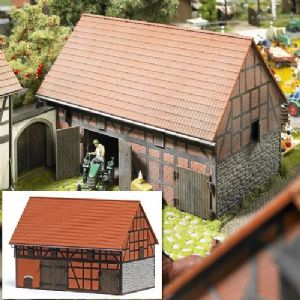 1506 Half Timbered Barn with small stable Laser cut kit